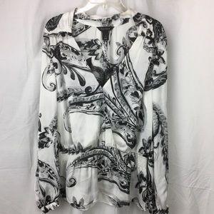 WHBM silky blouse moc wrap moc cami hippie v Beck